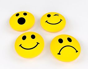 Smiley Magnets with 4 Different Emotions Free 3D model