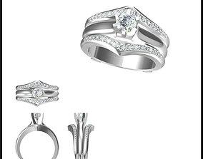 3D print model Wedding band rings for women cad Wedding 2