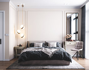 Bedroom design bed 3D animated