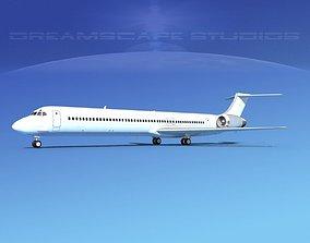 McDonnell Douglas MD83 Unmarked 1 3D
