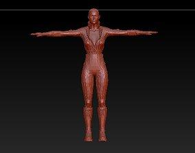 woman in uniform 3D print model