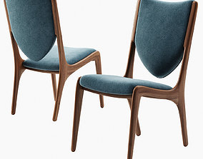 Shield Back Dining Chair 3D