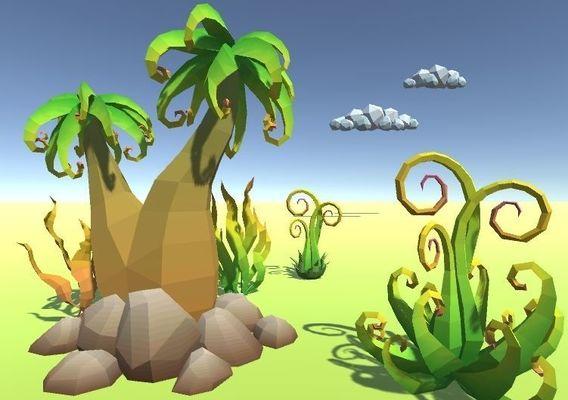 LowPoly Alien Plants Pack