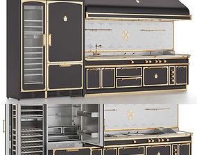 Officine Gullo kitchen set 3d model animated