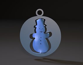 Christmas toy snowman 3D printable model