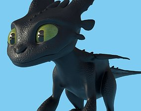 Baby Toothless 3D asset