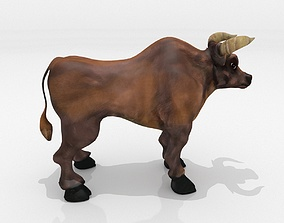 Bull Low Poly 3D asset low-poly