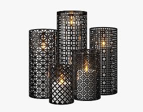 Moroccan Lanterns 3D elliptical