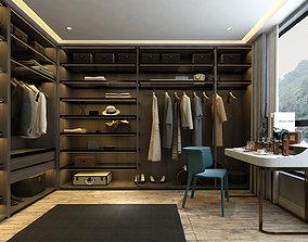Dressing room luxury 3D model shoes