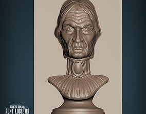 3D print model Haunted Mansion Aunt Lucretia Staring Bust