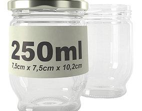 3D jar glass type17