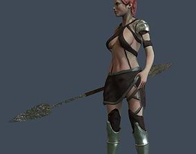 3D model Girl Warrior