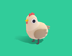 3D asset Hannah the Hen - Quirky Series