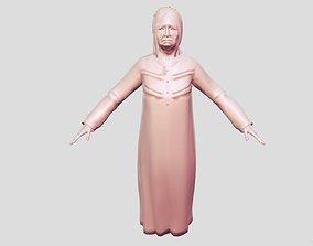 3D asset lady grandmother