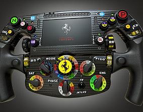 3D model F1 Ferrari Steering wheel