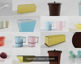 Tupperware Collection 3D retro