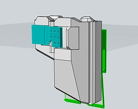 Fast Holster for HICAPA compatible 3D printable model 2