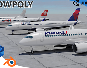 Pack Airbus A220-300 Multi livery 3D asset