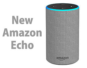 New Amazon Echo 2018 Heather Gray Fabric 3D