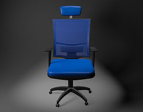 3D asset animated Office Chair small low poly