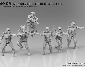 3D print model Old Mandarin Warriors