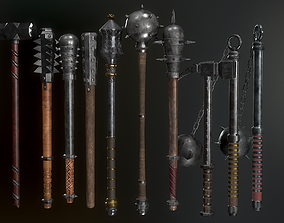 Medieval Weapons Mace Collection - 01 3D asset