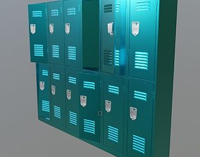 school lockers 3d models