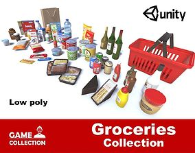 3D asset Groceries Collection