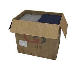 3D asset Cardboard Boxes 04