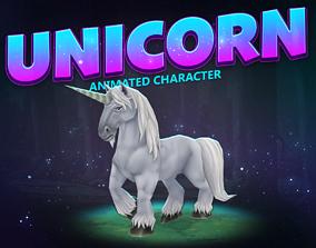 Unicorn animated character 3D asset