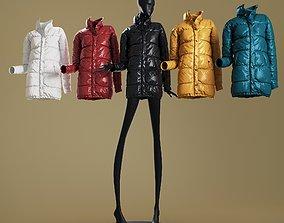 3D model Mannequin6014 coll60 oversized puffer coat