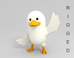 Rigged Duck Character 3D