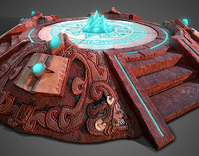 3D AZTEC PYRAMID ALTAR Game Ready game-ready