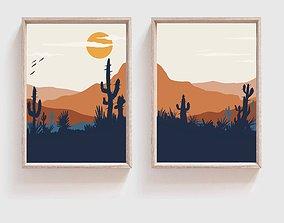 Mid Century Modern Desert Print 3D printable model 3