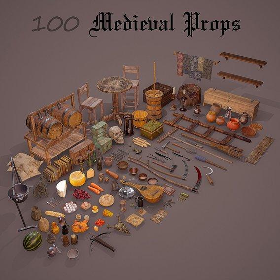100 Medieval Props
