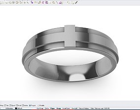 Wedding Cross Band For Men STL File ready For 3D Printing