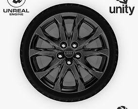 3D asset Wheel Steel-Chrome Dark Alloy Rim Audi 3