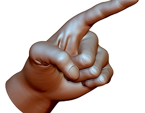 Pointing hand point gesture male - 3D printable model