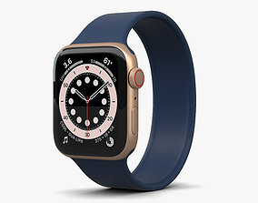Apple Watch Series 6 44mm Aluminum Gold 3D model