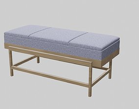 3D asset low-poly Master Bedroom Bench
