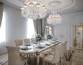 3D Interior Neoclassic Living Room 10