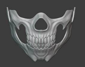 Mileena skull face mask from Mortal Kombat 3D print model