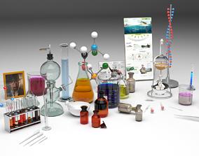 3D model Chemical test tube laboratory