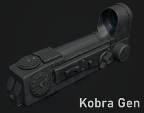 Kobra Gen 3 - Red Dot Sight - PBR 3D model