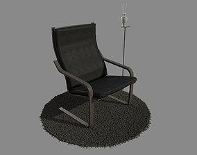 Armchair Poang 3D asset