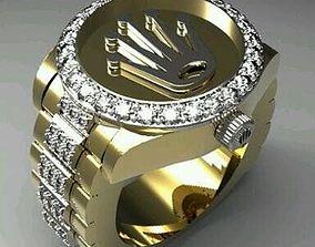Rolex-Men ring 3D printable model