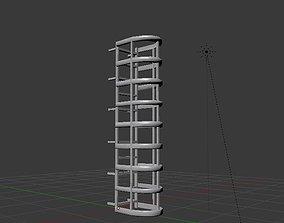 3D model VR / AR ready Fire escape