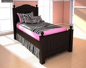 3D asset Ashley Jaidyn Twin Poster Bed