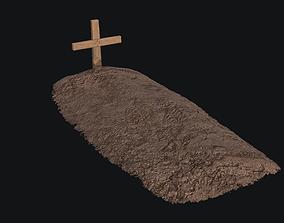Grave PBR Game-ready 3D model