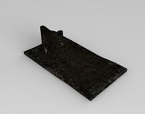 Lowpoly Gravestone 3D model